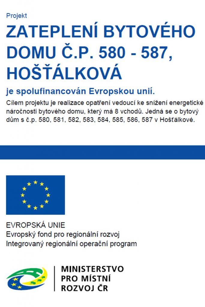 Zateplení bytového domu č.p. 580 – 587 Hošťálková